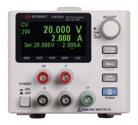 Keysight Technologies E36103A Digital Bench Power Supply, 1 Output 20V 2A 40W
