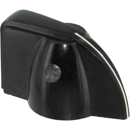 Pointer Knob, Pointer Knob Type, 38.1mm Knob Diameter, Black, 6.35mm Shaft, For Use With 6.35mm Shafts product photo