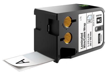 DYMO XTL Kabelmarkierung, selbstklebend, schwarz auf weiß, 38 mm, 75 ...
