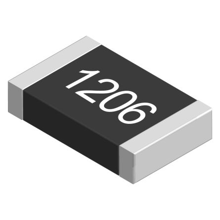 Ohmite LVK12 Series Metal Alloy Current Sensing Surface Mount Fixed Resistor 4-Terminal Kelvin, 1206 Case 10mΩ ±0.5%