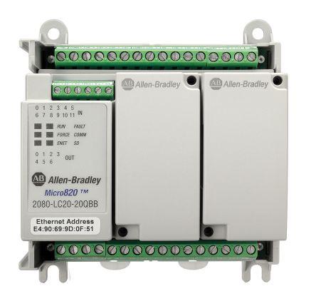 Allen Bradley PLC CPU, Ethernet Networking, 12 Inputs, 8 Outputs, 24 V dc
