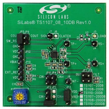 Silicon Labs TS1108-20DB, Current Sensing Amplifier Demonstration Board for TS1108-20
