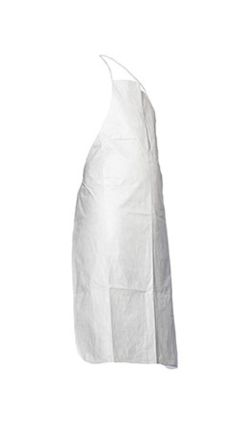 White Polythene Anti-Static, Low Lint Disposable 1.08m Apron product photo
