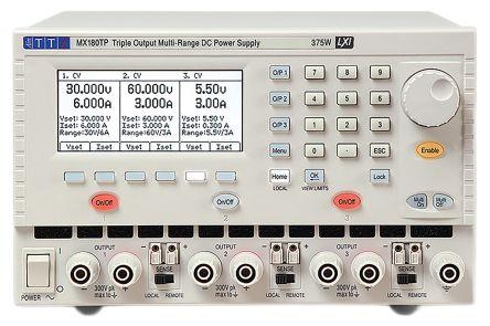 Aim-TTi MX180TP Digital Bench Power Supply, 3 Output 0 → 12 V, 0 → 120 V, 0 → 60 V