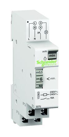 Staircase Timer Light Switch, 230 V, 1 -> 7 min@ 50 Hz, 48 s -> 5.6 min @ 60 Hz Setting Time product photo