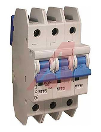 Altech L 3 Pole Thermal Magnetic Circuit Breaker, 240V ac on