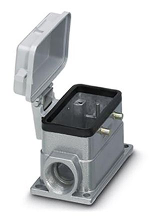 """D-sub Connector Accessory HEAVYCON"""" Series Box Mounting Base"""" , For use with product photo"""