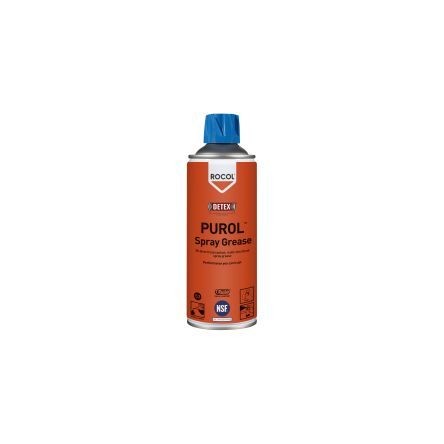 Rocol 400 ml PUROL Spray Grease Aerosol Oil for Clean Environments, Food Industry, Pharmaceutical Use