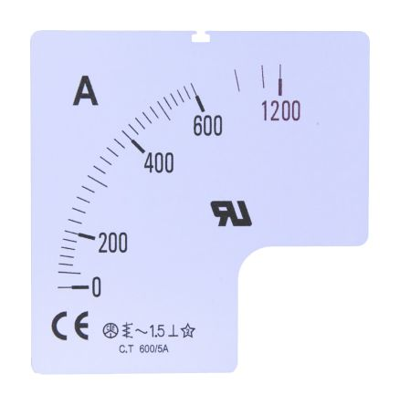1000A Meter Scale SC72-1000F2-90-RS for use with 72x72 Ammeter product photo