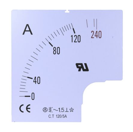 1500A Meter Scale SC96-1500F2-90-RS for use with 96x96 Ammeter product photo