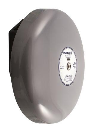 Moflash Grey Solenoid Bell, 106dB at 1 Metre, 24 V dc