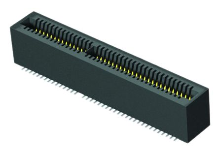 Samtec MEC1 Series, FemalePCBEdge Connector, SMT Mount, 40 Way, 2 Row, 1mm Pitch, 2.2A
