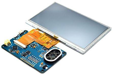 Bridgetek VM810C50A-D, FT810 EVE Credit Card 5in Resistive Touch Screen Module