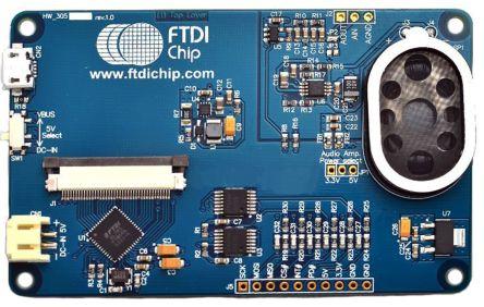 Bridgetek VM810C50A-N, FT810 EVE Credit Card Development Board
