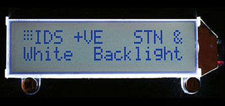 Intelligent Display Solutions CI064-4001-17 CI064-4001-xx Alphanumeric LCD Display, White on, 2 Rows by 16 Characters,