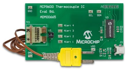 Microchip ADM00665, Temperature Sensor Evaluation Board for MCP9600