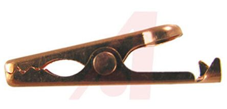 ADAPTIVE INTERCONNECT Crocodile Clip, Copper Contact, 5A, Brown