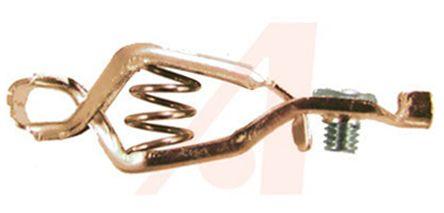 ADAPTIVE INTERCONNECT Crocodile Clip, Copper Contact, 10A, Brown