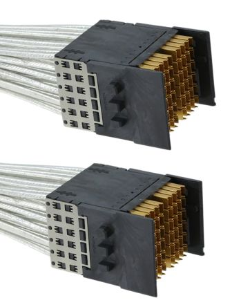 TE Connectivity STRADA Whisper Series High Speed Backplane Connector, Male, Straight, 9 Row, 162 Way