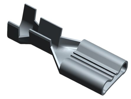 TE Connectivity FASTON .187 Series Grey Crimp Receptacle, 4.75 x 0.81mm, 0.5mm² to 1.3mm², 20AWG to 16AWG