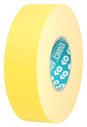 Advance Tapes AT160 Matt Yellow Cloth Tape, 19mm x 50m, 0.33mm Thick