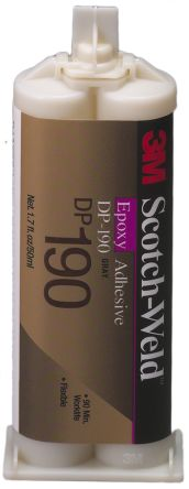 3M Scotch-Weld DP190 50 ml Grey Cartridge Epoxy Adhesive for Metal,  Plastic, Wood