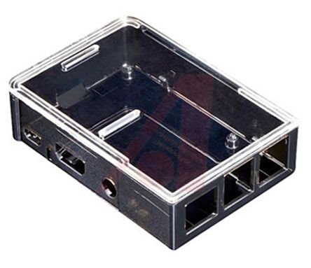 ADAFRUIT INDUSTRIES Raspberry Pi 2, Raspberry Pi B+ Case, Clear, Grey