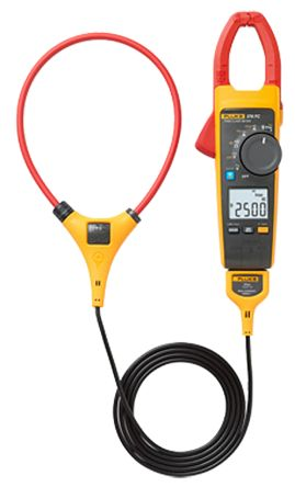 376 FC Clamp Meter, Max Current 2.5 (Probe) kA ac, 999.9 (Jaw) A ac, 999.9A dc CAT III 1000 V, CAT IV 600 V product photo