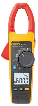 375 FC Clamp Meter, Max Current 2.5 (Probe) kA ac, 600 (Jaw) A ac, 600A dc CAT III 1000 V, CAT IV 600 V product photo