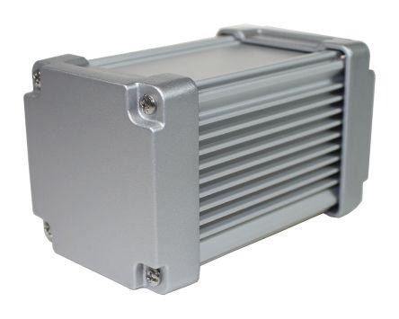 Aluminium Heat Sink Case, Silver, 110 x 65 8 x 65 8mm