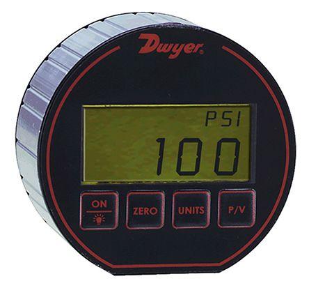 DWYER INSTRUMENTS Bottom Entry Digital Pressure Gauge, DPG-108