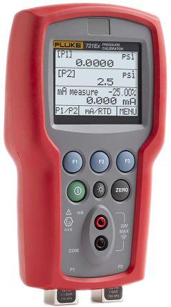 Fluke-721EX-3603 Pressure Calibrator 1.1 (Low Pressure Sensor) bar, 6.9 (High Pressure Sensor) bar Differential
