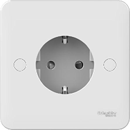 Schneider Electric White 1 Gang Power Socket, IEC 60884-1, 16A, Wall