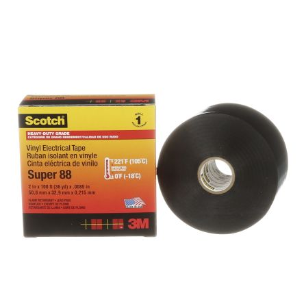 3M Black Electrical Tape, 50mm x 33m