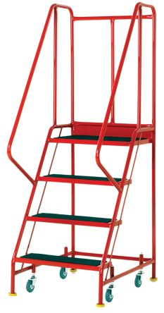 RS PRO 1760mm 4 Rung Steel Steps