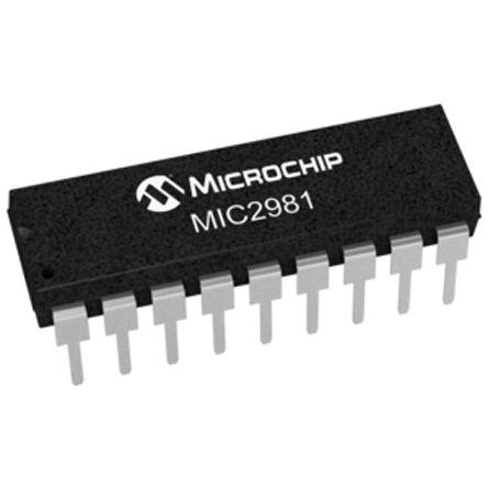 Microchip MIC2981/82YN, General Purpose Driver CMOS, PMOS, TTL, 350 mA, 5 → 50V 18-Pin, PDIP