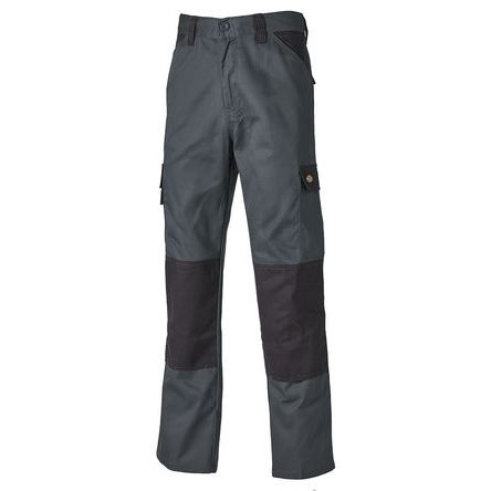 Everyday Grey/Black Men's Cotton, Polyester Trousers Imperial Waist 32in product photo