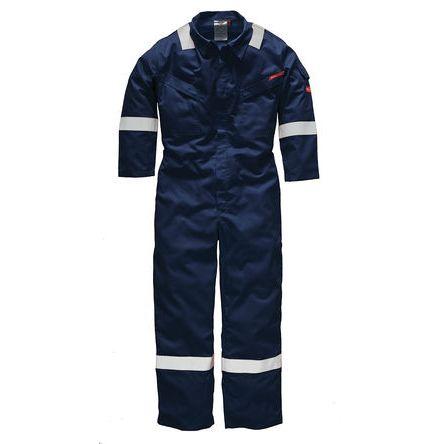 Mono, Dickies, Hombre, Azul, Pirorretardante, Algodón, Reutilizable, FR5401 Lightweight Pyrovatex Coverall Navy 54R