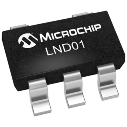 LND01K1-G N-Channel MOSFET, 330 mA, 9 V Depletion, 5-Pin SOT-23 Microchip