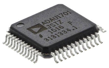 Analog Devices ADAU1701JSTZ Audio Processor, 48-Pin LQFP