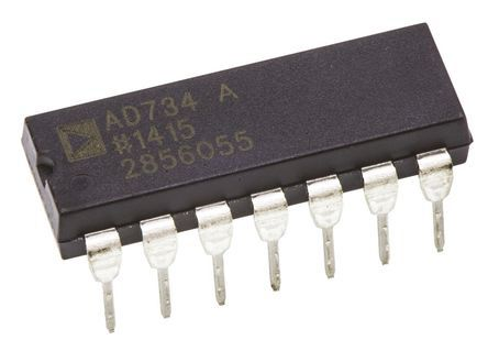 Analog Devices AD734ANZ 4-quadrant Voltage Multiplier, 10 MHz, 14-Pin PDIP