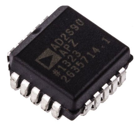 AD2S90APZ, Resolver to Digital Converter 12 bit- Differential-Input Serial 500 rps, 20-Pin PLCC