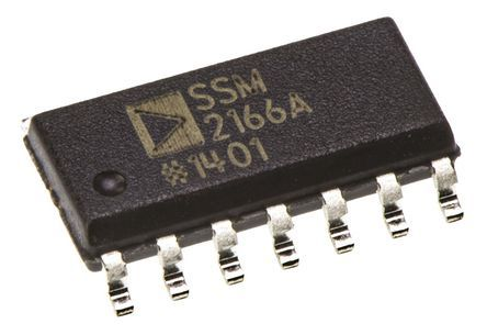 Analog Devices SSM2166SZ Microphone Amplifier 30MHz, 14-Pin SOIC Mono