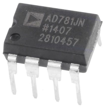 AD781JNZ, Sample & Hold Circuit, 0.7μs Dual Power Supply, 8-Pin PDIP