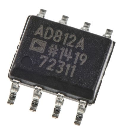 AD812ARZ , 2-Channel Video Amp 125V/µs, 8-Pin SOIC product photo