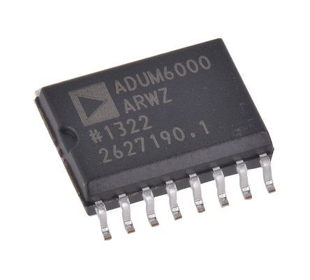 Analog Devices ADUM6000ARWZ Isolated DC-DC Converter, Maximum of 5 V 16-Pin, SOIC W