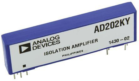 Analog Devices AD202KY, Isolation Amplifier, 15 V 2-channel, 10-Pin SIP