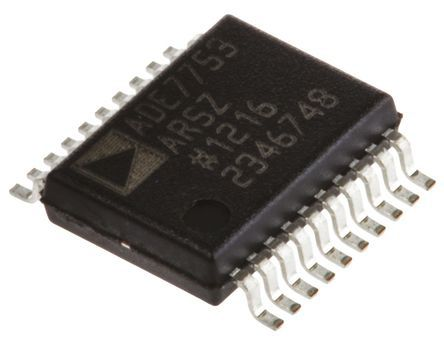 Analog Devices ADE7753ARSZRL Energy Meter IC, 16 bit, 20-Pin SSOP