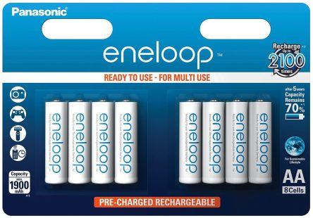 Panasonic eneloop Precharged NiMH Rechargeable AA Batteries, 1900mAh product photo