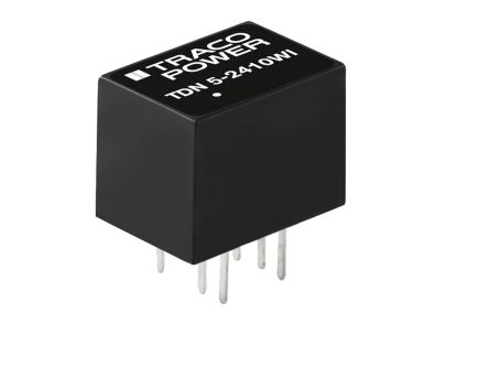 TRACOPOWER TDN 5WI 5W Isolated DC-DC Converter Through Hole, Voltage in 4.5 → 12 V dc, Voltage out 24V dc